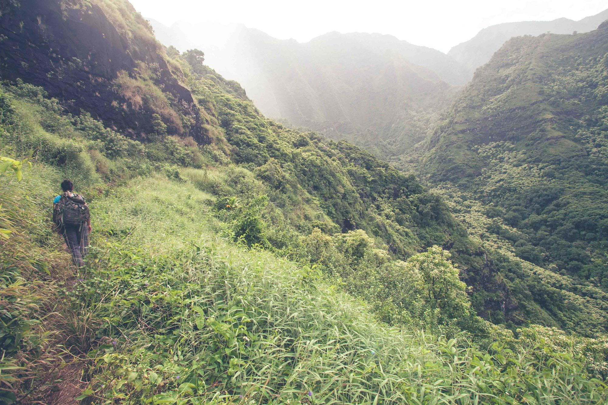 The unexpected and the steep cliffs